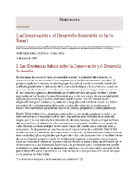 La Conservacion y el Desarrollo Sostenible en la Fe Baha'i