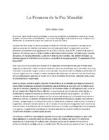 Spanish The Promise of World Peace La Promesa de la Paz Mundial