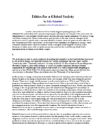 Ethics for a Global Society Udo Schaefer