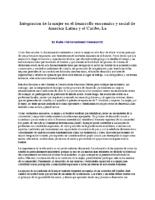 Integracion de la mujer en el desarrollo enocomico y social de America Latina y el Caribe