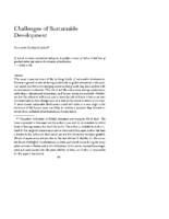 Challenges of Sustainable Development by Augusto Lopez-Claros