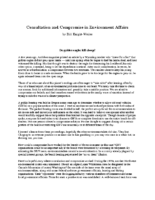 Consultation and Compromise in Environment Affairs by Bill Knight-Weiler